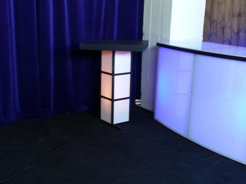 curved bar with Lighted Table